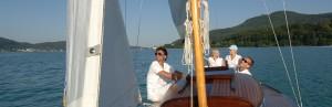 Yacht fahren auf dem Wörthersee
